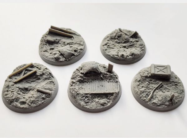 50mm Trench Warfare  Bases (3)